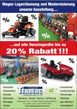 20% bei Tenberg Gartentechnik GmbH & Co.KG