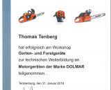 Zertifizierung Tenberg Makita Dolmar